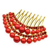 Caltrad Pearl Crystal Hair Comb Slide/pin Bridal Dress