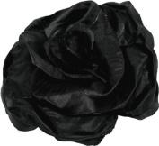 Large Black Flower Hair Slide Clip Corsage by Zest