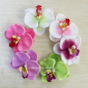 6pcs Orchid Flower Hair Clip For Bridal Wedding Hawaii Party Girl