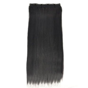 Beyondfashion 60cm Straight Full Head Clip In Hair Extensions - Perm Wash Wigs - Colours Avaliable