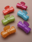 Green Bow Small Plastic Hair Clamp IN9465