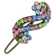 Ebuni - Crystal Pastel Swirl Hair Clip - Girls Ladies Hair Accessory