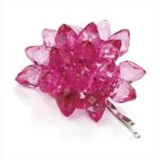 Hot Pink Beaded Flower Hair Grip AJ24138