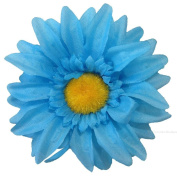 Turquoise & Yellow Large Daisy Slide/Beak Clip IN9961