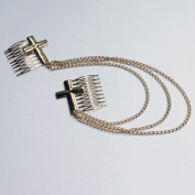 Hair Chain Combs : XL Gold Cross Combs