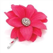 Hot Pink Crystal Flower Hair Grip AJ23274