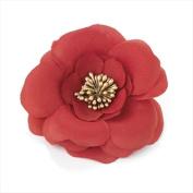 Red & Gold Seeded Flower Beak Clip/Slide AJ24099