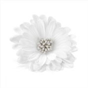 White Seeded Flower Hair Elastic/Clip AJ24096