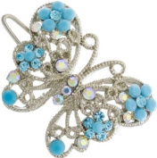 Ebuni Blue Wing Butterfly Hair Clip / Ladies Girls Hair Accessory