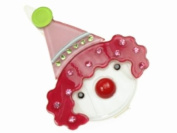 Glitz4Girlz Clown Resin Hair Clip - Cerise