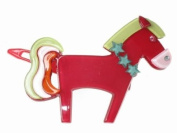 Glitz4Girlz Pony Resin Hair Clip - Cerise
