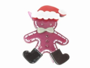 Glitz4Girlz Purple Santa Gingerbread Man Hair Clip