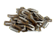 10 pack Brown Weft Clips 32mm for Hair Extensions and Wefts