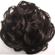 Hair Piece Bun Extension scrunchie DARK BROWN