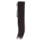 SWT 50cm Brown Smooth Natural Fashionable Wig Hairpiece Ponytail Hair Extensions Clip in on Long Straight for Womans / Girls
