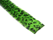 Clip In Hair Extensions 30cm Neon Green Leopard Emo Punk Goth Scene