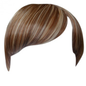 Fringe Bang Clip in Hair Extensions STRAIGHT Brown/Blonde Mix #6/613