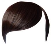 Fringe Bang Clip in Hair Extensions STRAIGHT Medium Brown #6