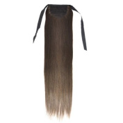 Tinxs 50cm Smooth Fashionable Clip in Long Straight Wig Ponytail Hair Extensions