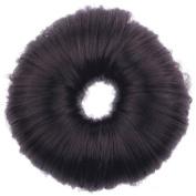 EOZY Coffee Colour Korean Bun Hair Former Doughnut Shaper Donut Hairpiece Hair Elastic Band Loop Coil Hairdressing Ponytail Holder
