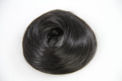 Biya Hair Elements Straight Bun Scrunchie Hair Extensions - Colour 1#