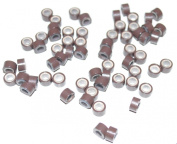 Silicone Micro Rings Beads - 500 Brown 5mm rings for I Tip Hair Extensions or Feather Hair Extensions
