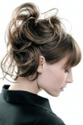 HAIR EXTENSION SCRUNCHIE BUN UP DO DOWN DO BROWN GOLD HIGH LIGHTS SPIKY TWISTER