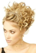 HONEY BLONDE HAIR EXTENSION SCRUNCHIE BUN UP DO DOWN DO TOPPER HONEY CURLY TWISTER