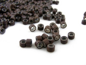 Pack of 1000 Silicone Micro Rings - 5mm / Brown - For I-Tip & Feather Hair Extensions