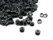 Pack of 1000 Silicone Micro Rings - 5mm / Black - For I-Tip & Feather Hair Extensions