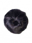BLACK BROWN Clip In On Bun Scrunchie Ponytail - High Quality 100% Synthetic Hair Extensions