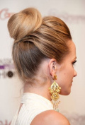 BUN UP DO SIDE BUN BALLERINA BUN BLONDE MIX TIGHT OR MESSY OR EVEN TOP KNOT