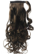 Forever Young 46cm Clip In Ponytail Hair Extension Piece Wrap On Hair Wavy Style Medium Brown 6#