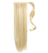 Forever Young 50cm Clip In Pony Tail Hair Extension Wrap Around Ponytail Hair Extension Piece Bleach Blonde 613#