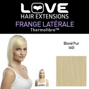 Love Hair Extensions HE/FRK1/QFC/CISF/60 Clip-In Side Fringe Thermofibre Colour 60 Pure Blonde