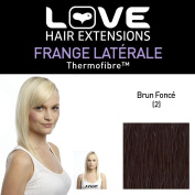 Love Hair Extensions LHE/FRK1/QFC/CISF/2 Clip-In Side Fringe Thermofibre Colour 2 Dark Brown