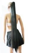 L-email 110cm Clip on Black Straight Hairpieces Extension Ponytail Cw78