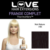 Love Hair Extensions LHE/FRK1/QFC/CIF/1B Clip-In Full Fringe Thermofibre Colour 1B Natural Black