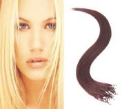 46cm Micro Loop Ring Hair Extensions-#99J Dark Wine-0.8g*20 strands
