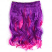 Lovely Colour 1 piece Hair Extension 41cm Long Pink & Purple UK