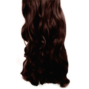 2.3cm Clip in Hair Extensions CURLY Chocolate Brown #8 FULL HEAD 8pcs
