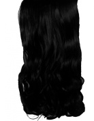 Elegant Hair 2.3cm Clip in Hair Extensions CURLY WAVY Jet Black #1 FULL HEAD 8pcs 150g