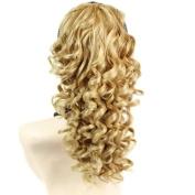Spiral Curly Drawstring Hair Piece Blonde mix Ponytail Irish Dance Extension UK