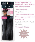Super-Duper-Fly 100% Human Hair Extensions - YAKI STRAIGHT 28cm LONG Colour #3 MEDIUM BROWN