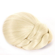 Braided Blonde Clip In Hair Bun   Clip On Glamorous Hairpiece   Available in 4 Colours