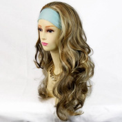 Curly 3/4 Fall Hair Piece Long Wavy Lady Half Wig hairpiece Dark Brown Strawberry Blonde Plat Blonde mix from Wiwigs