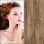 GOGODIVA Clip in Hair Extensions 100% Human Remy Hair 18 Strawberry Blonde colour 38cm Length 90 grammes hair weight