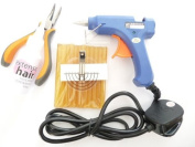 Hair Extensions Glue Gun Glue Sticks Tools Kit For Hot Fusion Remy Hair Application and removal