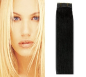 36cm Hair Weaves/wefts - #1 Jet Black-Silky Straight-100g-100% Human Hair-Grade AAA