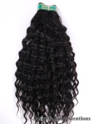 JasnelleHair 30cm Inches| 100% Virgin Unprocessed Peruvian Remy Human Hair Extension| Deep Wave| Colour